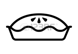Apple cherry pie line art icon for food apps and websites Illustration