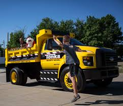 100 Tonka Truck Videos Giant Truck Revs Up Smiles At The Clinic