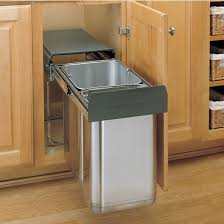 Under Cabinet Trash Can Holder by Pull Out Built In Trash Cans Cabinet Slide Under Sink Kitchen With