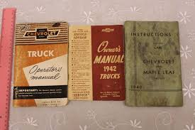 1940, 1941& 1960 Chevrolet Truck Owners Manuals