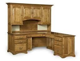 Ebay Corner Computer Desk by Amish Corner Computer Desk Hutch Home Office Solid Wood Furniture