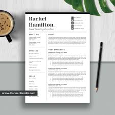 Simple Resume Template, Modern CV Template, Student Word Resume, Creative &  Professional Resume Design, Cover Letter, Instant Download: Rachel Free Simple Professional Resume Cv Design Template For Modern Word Editable Job 2019 20 College Students Interns Fresh Graduates Professionals Clean R17 Sophia Keys For Pages Minimalist Design Matching Cover Letter References Writing Create Professional Attractive Resume Or Cv By Application 1920 13 Page And Creative Fully Ms