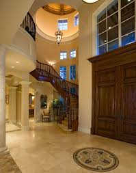 Foyer Remodel Entry Mediterranean With High Ceilings Nickel Recessed Lighting Kits