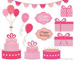56 Pink Birthday Balloons Clipart
