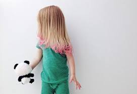 Full Head Dye Too Much For Your Toddler Try Dipping Her Hair Ends In Pink To Get This Cool Look