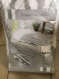 badezimmergarnitur grau weiß