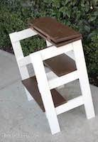 Free Wooden Folding Step Stool Plans by Step Stools At Woodworkersworkshop Com