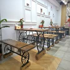 Star Home Off A Single Outdoor Cafe Tables And Chairs Combination Of Wheel Wrought Iron Wood Creative Retro In Dining From Furniture