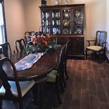 Antique Ethan Allen Dining Room Table And Hutch