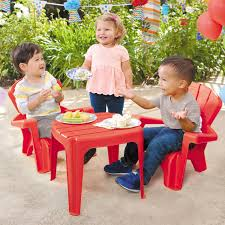 garden table chairs red little tikes