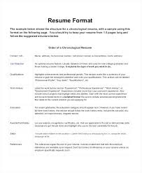 Professional Format Of Resume Chronological For Experienced Engineers
