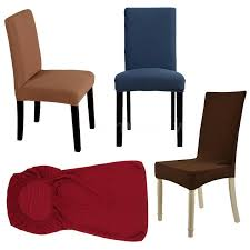 Soft Polyester Spandex Short Dining Room Chair Cover Slipcovers Uk