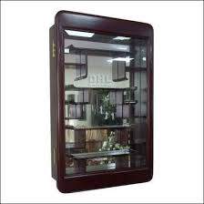 Chinese Rosewood Curio Display Cabinet In Plain Ming Design