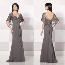 2015 sfani new arrival grey long a line mother of the bride