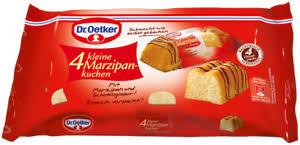details zu dr oetker 4 kleine kuchen marzipan marzipankuchen 140g