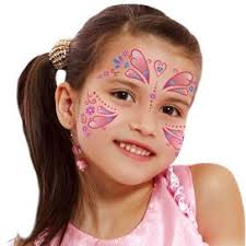 Kid Princess Butterfly Face Tattoo