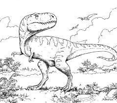 Dinosaur Color Pages Best Coloring Adresebitkisel Kids