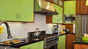 lime green kitchen walls shapely curved pandant lights modern