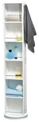 swivel storage wood cabinet organizer tower white linen tower