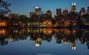 Piedmont Park Atlanta Parking Deck by Atlanta Skyline From Lake Clara Meer In Piedmont Park Picture Of