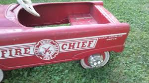 1950,s Murray Fire Chief City Dept. Pedal Car - YouTube A Late 20th Century Buddy L Childs Fire Truck Pedal Car Murray Fire Truck Pedal Car Vintage 1950s Jet Flow Drive City Fire Amf Fighter Engine Unit No 508 Sold Childs Metal Rescue Truck Approx 1m In John Deere M15 Nashville 2015 Baghera Childrens Toy 1938 Antique Engine Fully Stored Padded Seat 46w X Volunteer Department No8 Limited Edition No Generic Firetruck Stock Photo Edit Now Amazoncom Instep Toys Games These Colctible Kids Cars Will Be Selling For Thousands Of