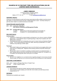 Best Ideas Of Part Time Job Resumes Examples Sidemcicek Resume For Highschool About