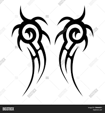 Tattoo Tribal Design Swirl Sketch Vector Isolated Chest