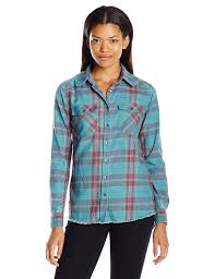 billabong juniors flannel frenzy plaid shirt with front pockets at