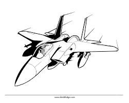 Jet Airplane Coloring Pages Airplanes Tickets Airline