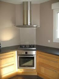 hotte de cuisine en angle cuisine ikea tidaholm réalisation caisson angle pour hotte 27