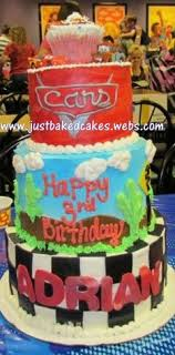 Cars 3 tier Birthday Cake