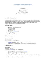 Sample Accounting Resume Cover Letter Student Examples Military Bralicious Co