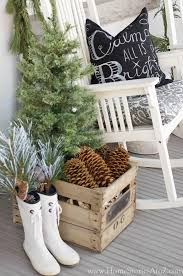 Rustic Neutral Christmas Porch