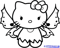 Full Image For Hello Kitty Halloween On Pinterest Coloring Pages Christmas