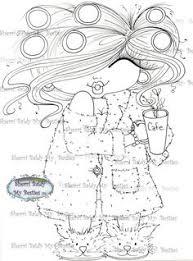 INSTANT DOWMLOAD Digital Digi Stamps Big Eye Head Dolls Img030 New Fluffy Besties Tm By Sherri Baldy