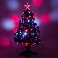Product Image HomCom Artificial Fiber Optic And LED Prelit Holiday Christmas Tree
