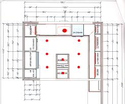attractive recessed lighting design layout of with kitchen