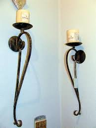 uncategorized modern wall candle holders metal wall sconce