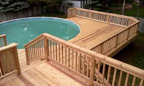 Above Ground Pool Deck Images by Above Ground Pool Deck Ideas Railing U2014 Jbeedesigns Outdoor
