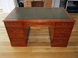 leather top desk in 4 sizes mahogany oak cherry