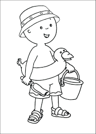 Coloring Pages Beach Caillou My First Book Printable Pdf
