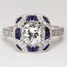 Image Is Loading Custom Cut Sapphire Old Mine Diamond Vintage