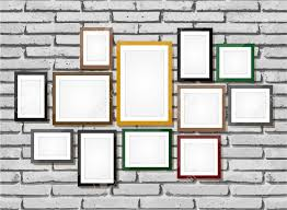 Photo Art Gallery On Brick Wall Stock Vector