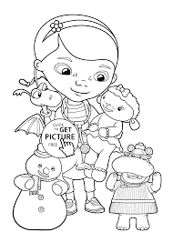 Doc McStuffins Friends Coloring Pages For Kids Printable Free