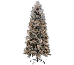 Flocking Christmas Tree Kit by Kringle Express Flocked 6 5 U0027 Winter Slim Christmas Tree Page 1