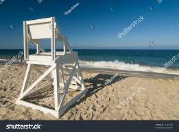 Beach Lifeguard Chair Plans by Lifeguard Chair On Perfect Beach Stock Photo 17282983 Shutterstock