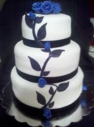Blue And Black Wedding Cakes Wedding Cakes With 34 Black White