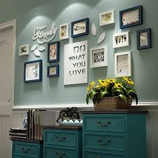 bilderrahmen collage brief pastoralen schlafzimmer wohnzimmer massivholz kreative kreative foto wand ornament rahmen wand fotorahmenwand farbe blau