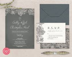 Christian Lace Marriage Invitation And RSVP Card Cross