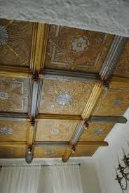 24 X 24 Inch Ceiling Tiles by St Andrews Garden Faux Tin Ceiling Tile Glue Up 24